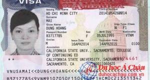Visa du học Mỹ - Mai Hoàng Dung