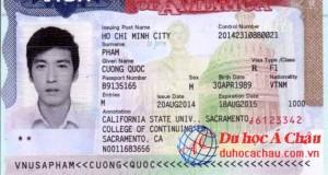 Visa du học Mỹ - học sinh Phạm Quốc Cường