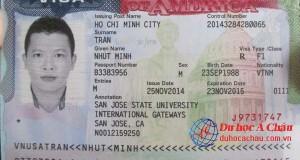 Visa du học Mỹ - Trần Nhựt Minh